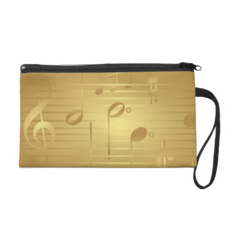 Gold Music Notes Purse Bag for women