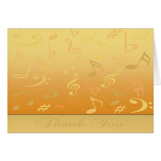 Gold Music Notes Thank You