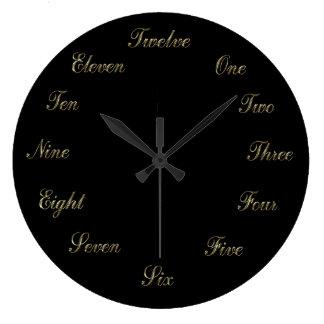 Gold n Black Clock
