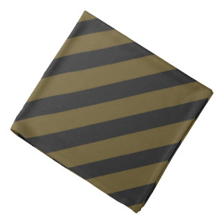 Gold 'n Black Pirate Stripes Bandana