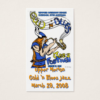 Gold 'n Blues Jazz 2008 card. Business Card