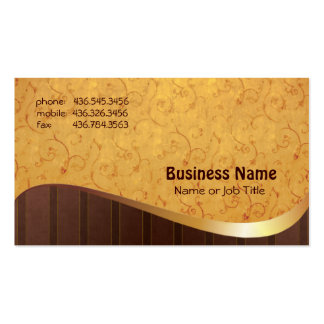 Gold-n-Brown Double-Sided Standard Business Cards (Pack Of 100)