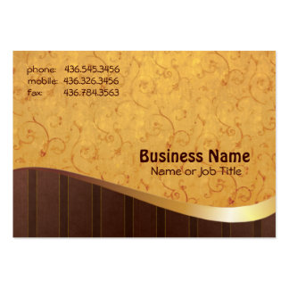 Gold-n-Brown Large Business Cards (Pack Of 100)