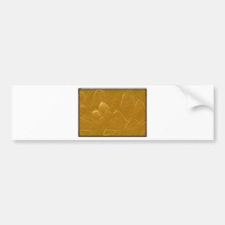 Gold n Copper Sheet :  Lotus Engraved Design Bumper Sticker