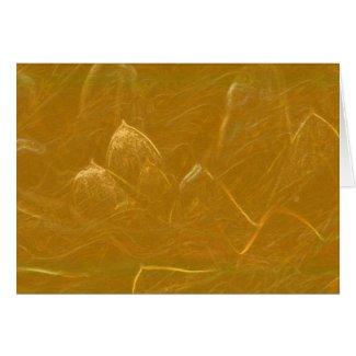 Gold n Copper Sheet : Lotus Engraved Design card