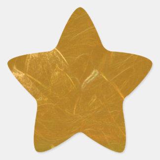 Gold n Copper Sheet :  Lotus Engraved Design Star Sticker