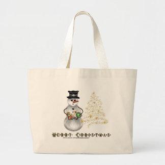 Gold N Glitter Snowman Bag