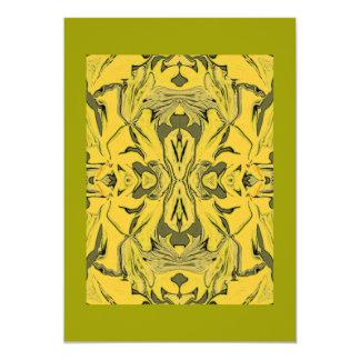 gold n green invitation