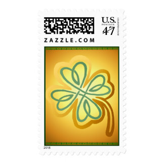 Gold N Green Shamrock Postage