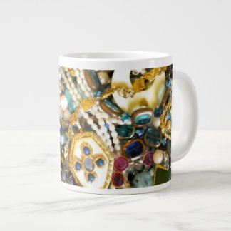 Gold 'N Ivory 20 Oz Large Ceramic Coffee Mug