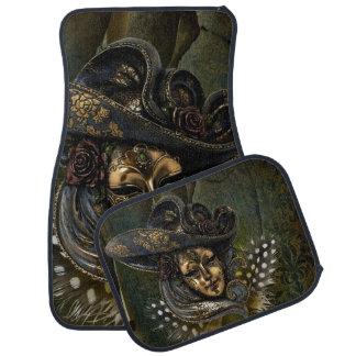Gold N Olive Masquerade Carnival Mask Car Mats Floor Mat