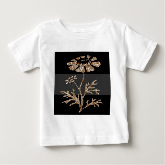 Gold n Silver Engraved Floral Black Beauty Baby T-Shirt