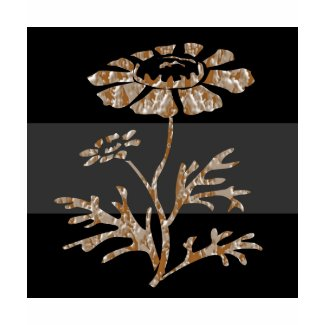 Gold n Silver Engraved Floral Black Beauty shirt