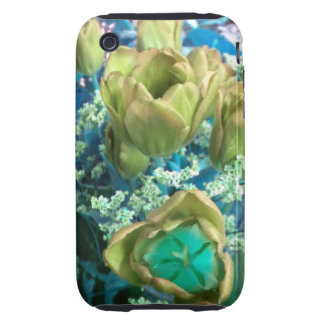 Gold N Teal Tulips iPhone 3 case
