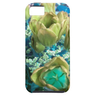 Gold N Teal Tulips iPhone 5 case