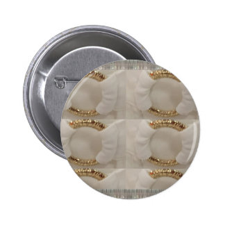 Gold n white fashion accessory diy add text image pinback button