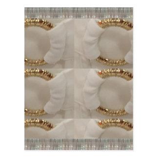 Gold n white fashion accessory diy add text image postcard