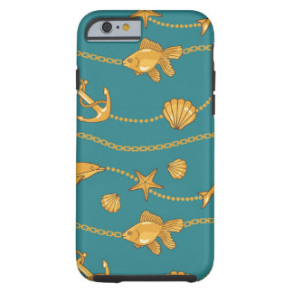 Gold Nautical Pattern iPhone 6 Case