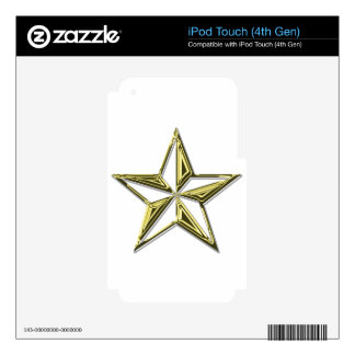 Gold Nautical Star Decal For iPod Touch 4G