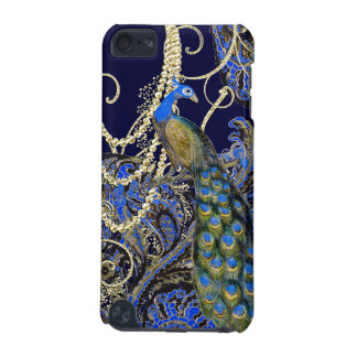 Gold Navy Black Peacock Swirl iTouch Case