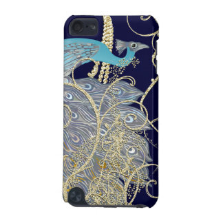 Gold Navy Black Peacock Swirl iTouch Case iPod Touch (5th Generation) Covers