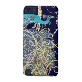 Gold Navy Black Peacock Swirl iTouch Case iPod Touch 5G Case