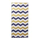 Gold & Navy Blue Chevron Pattern Cloth Napkins