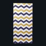"Gold &amp; Navy Blue Chevron Pattern Cloth Napkins<br><div class=""desc"">Simple and elegant,  add a splash of color to you kitchen,  kitchen table or dining room table with these Gold &amp; Navy Blue Chevron Pattern Cloth Napkins.</div>"