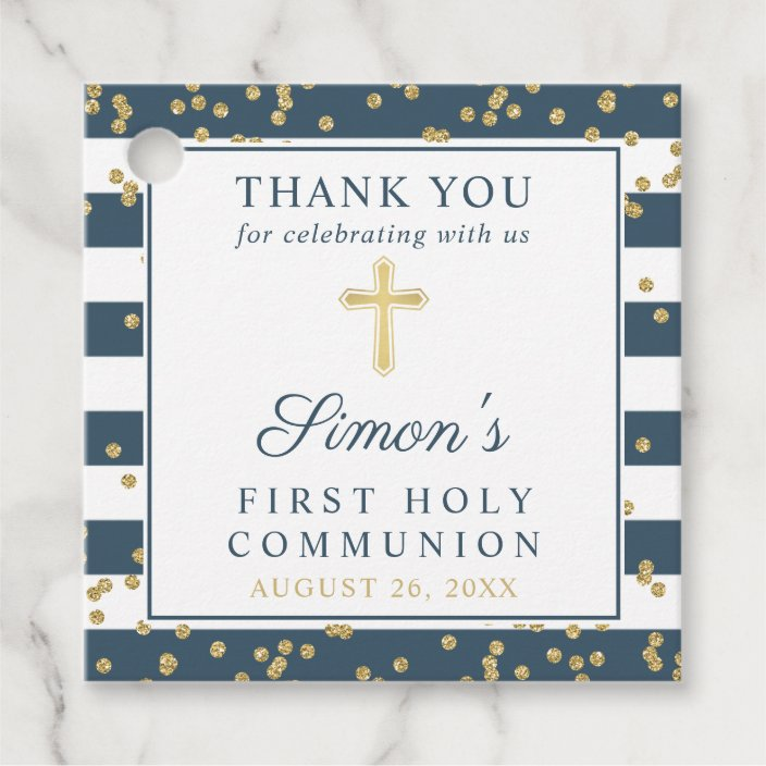 Simple Greenery First Communion Thank You Notes Religious First Holy Communion