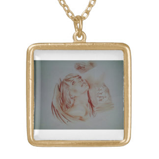 Gold Necklace(True Love Conquers All) Gold Plated Necklace