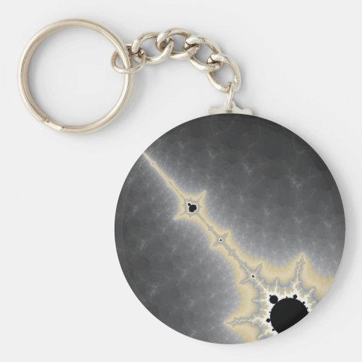 Gold Needle in Mercury Keychain