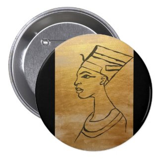 Gold Nefertiti Large Button