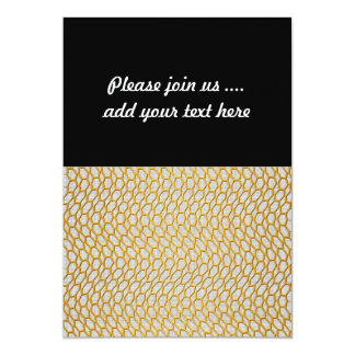Gold Netting Abstract Digital Art 5x7 Paper Invitation Card