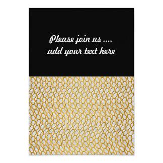 Gold Netting Abstract Digital Art 5x7 Paper Invitation Card