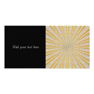 Gold Netting Geometric Radial Design Photo Cards