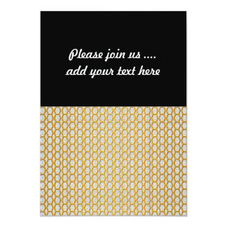 Gold Netting Pattern 5x7 Paper Invitation Card