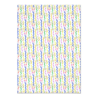 Gold New Year 2015 Multi Party Streamers on White Card