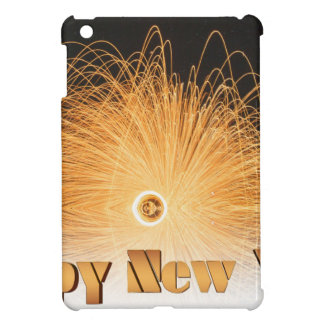Gold New Year Fireworks iPad Mini Cover