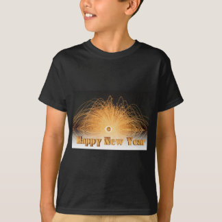 Gold New Year Fireworks T-Shirt