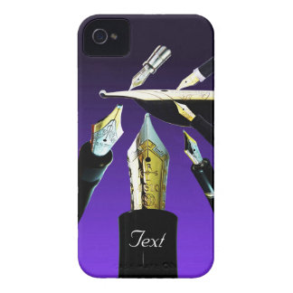 Gold Nibs Theme iPhone 4 Case