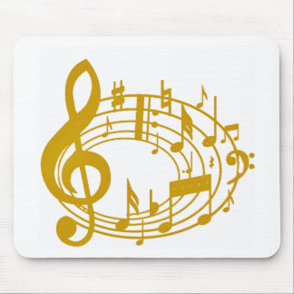 Gold Notes_ Mouse Pad
