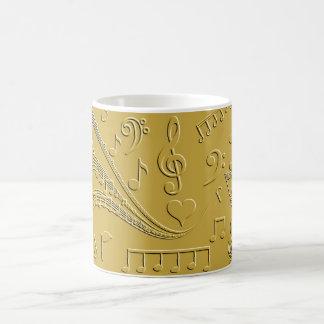 Gold notes of love_ coffee mug