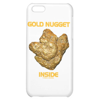 Gold Nugget Inside Case For iPhone 5C