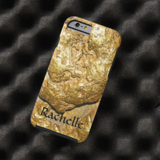 Gold nugget monogrammed iPhone 6 case