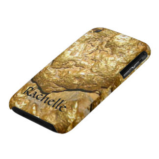 Gold nugget monogrammed iPhone 3 case