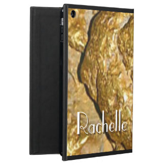 Gold nugget monogrammed cover for iPad air