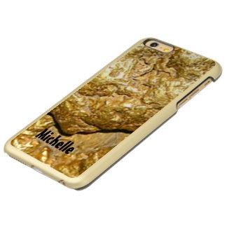 Gold nugget monogrammed incipio feather® shine iPhone 6 plus case
