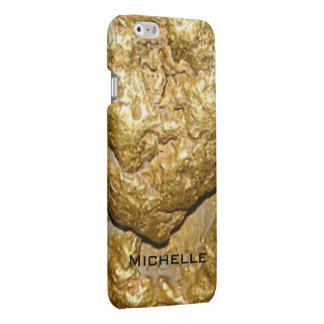 Gold nugget monogrammed matte iPhone 6 case
