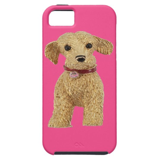 Gold Nugget Terrier iPhone 5 Case Pink