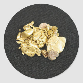 Gold Nuggets Classic Round Sticker